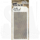 THS057 Stampers Anonymous Tim Holtz Layering Stencil - Herringbone